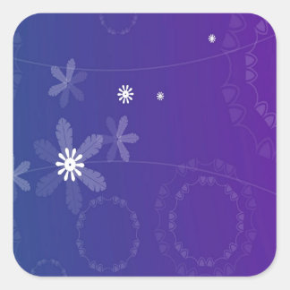 Abstract Flowers Warm Colors Burst Sticker