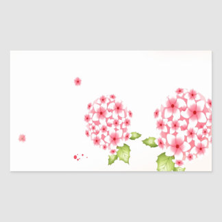 Abstract Flowers Warm Colors Hortense Rectangle Sticker