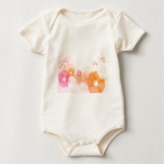 abstract flowers warm colors leaf splash baby bodysuit