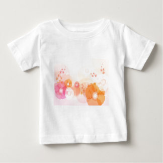 abstract flowers warm colors leaf splash t-shirt
