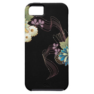 Abstract Flowers Warm Colors Ribbon Cover For iPhone 5/5S