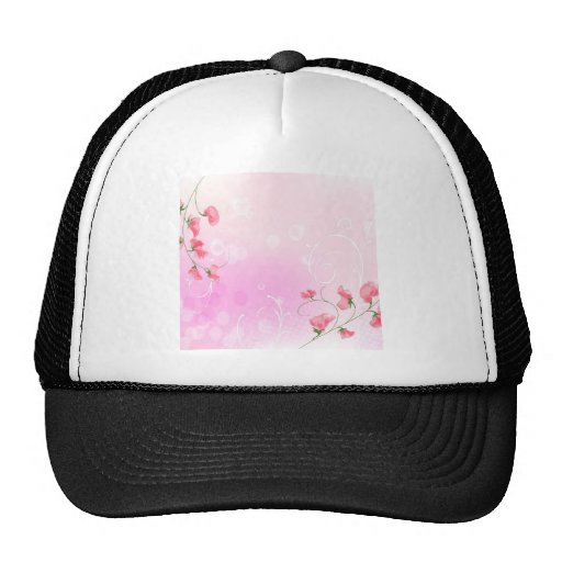 Abstract Flowers Warm Colors Romance Abstract Mesh Hats