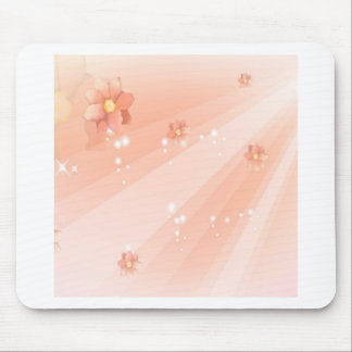Abstract Flowers Warm Colors Shine Mouse Pads
