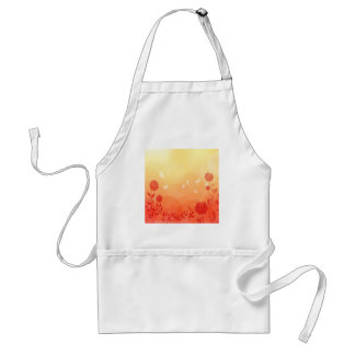 Abstract Flowers Warm Colors Spring Splash Aprons