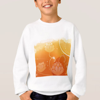 Abstract Flowers Warm Colors Water Lilly Sweatshirt