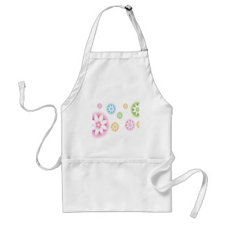 Abstract Flowers White Abstract Apron