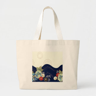Abstract Flowers White Blue Fireworks Tote Bag
