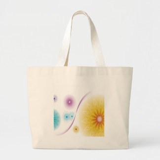 Abstract Flowers White Soundwave Bags