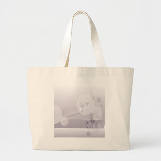 Abstract Flowers White Wave Tote Bags