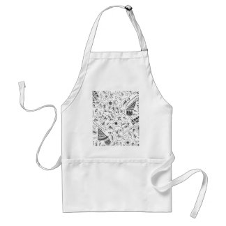 Abstract Flowery Indonesian Textile Standard Apron