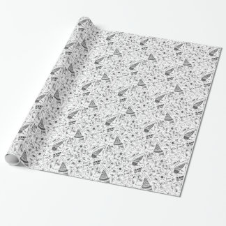 Abstract Flowery Indonesian Textile Wrapping Paper