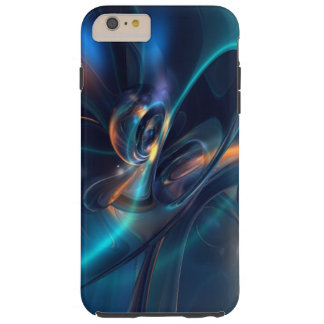 Abstract Flowing Design, Blues, Golds, Greens Tough iPhone 6 Plus Case