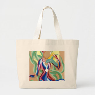 Abstract Flowing Ribbons of Light Woman Creature Bags