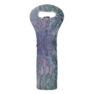 Abstract Fluid Purple Teal and Black Wine Bag