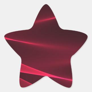 Abstract flux red crimson star sticker
