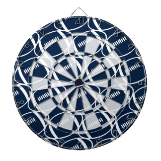 Abstract footballs dartboard