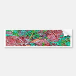 Abstract Forest Bumper Sticker