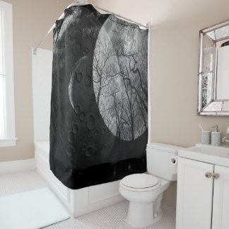 """Abstract forest """"customize color"""" Shower curtain"""