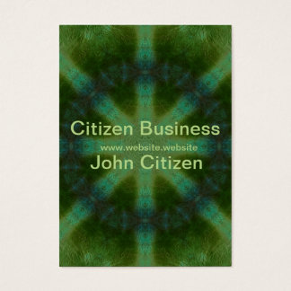 Abstract Forest Green Kaleidoscope Business Card