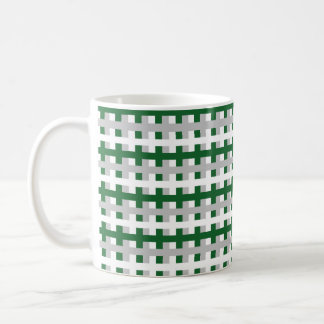 Abstract Forest Green, Silver and White Coffee Mug