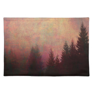 Abstract Forest Landscape Art Grunge Sky Colors Placemat