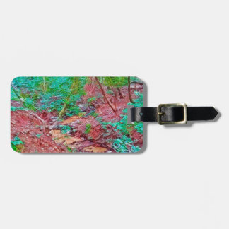 Abstract Forest Luggage Tag