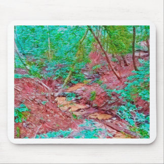 Abstract Forest Mouse Pad
