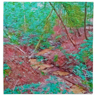 Abstract Forest Napkin