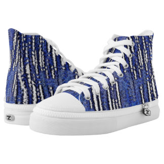 Abstract Forest-Royal-Blue High Tops