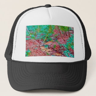Abstract Forest Trucker Hat