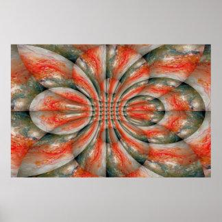 Abstract Fractal Art Poster Print Kaleidoscopic