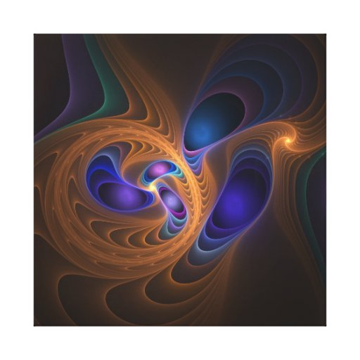 Abstract fractal artwork The Swirl Canvas Print