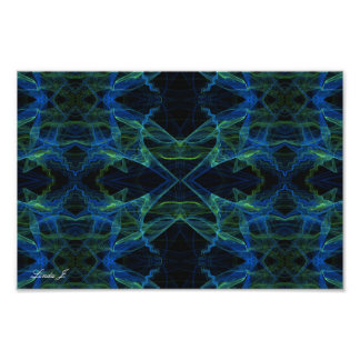 Abstract Fractal Background Canvas or Poster