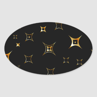 Abstract fractal background oval sticker