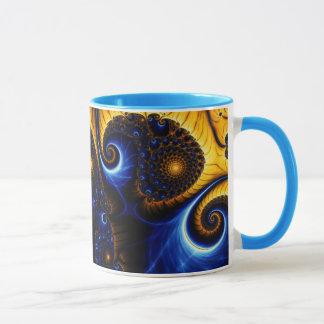 Abstract Fractal Blue Sky Ceramic Mug
