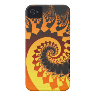 Abstract fractal case-mate case The Fire Spiral