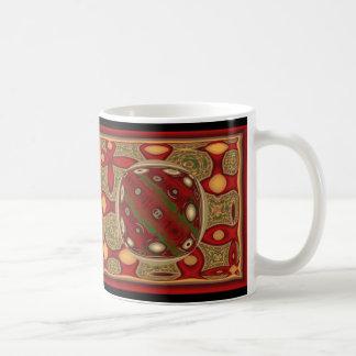 Abstract fractal Christmas Orb Basic White Mug