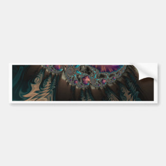 Abstract fractal cuff RNS and shapes. Fractal kind Bumper Sticker