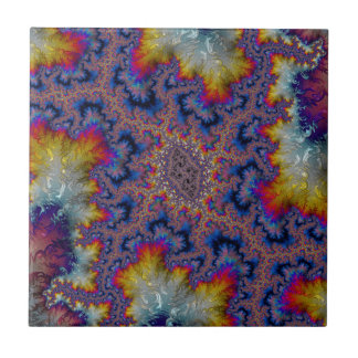 Abstract fractal cuff RNS and shapes. Fractal kind Ceramic Tile