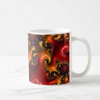 Abstract fractal cuff RNS and shapes. Fractal kind Basic White Mug