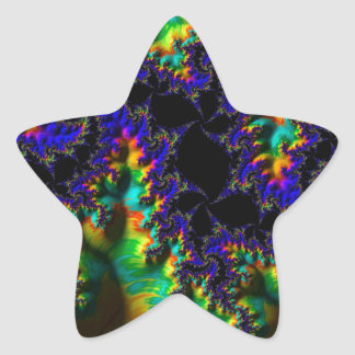 Abstract fractal cuff RNS and shapes. Fractal kind Star Sticker