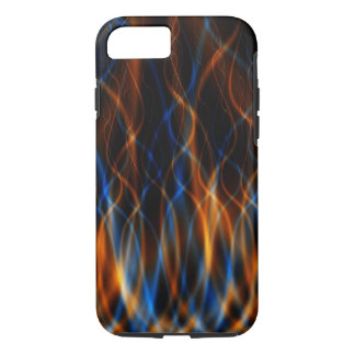 Abstract Fractal Fire Background iPhone Case