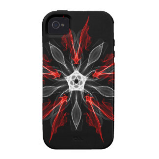 Abstract Fractal Flower Explosion in Red iPhone 4/4S Cases