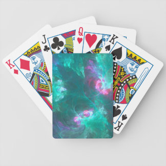 Abstract fractal in a cold palette bicycle playing cards