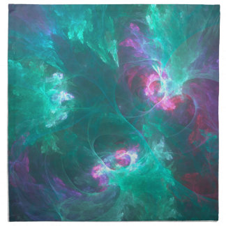 Abstract fractal in a cold palette napkin