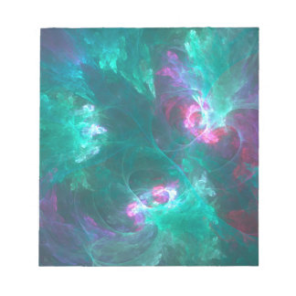 Abstract fractal in a cold palette notepad