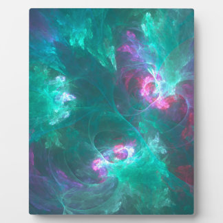 Abstract fractal in a cold palette plaque