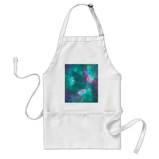Abstract fractal in a cold palette standard apron