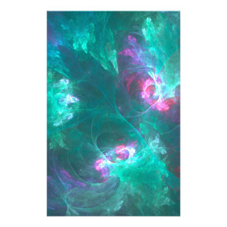 Abstract fractal in a cold palette stationery