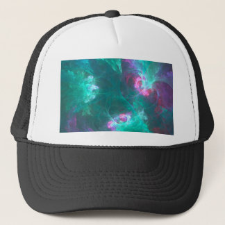 Abstract fractal in a cold palette trucker hat